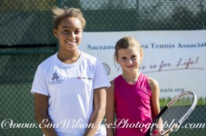 Girls 12 Semi Finals, Maiah White & Mryia Hrynashra