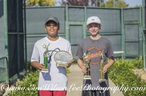 Boys 14, High Point Winner & Finals Tournament 1st Place, Eron Mendoza; High Point Runner Up & Finals Tournament 2nd Place, Jason Hensler