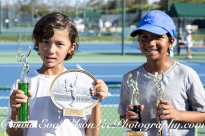Boys 10, High Point Winner & Finals Tournament 1st Place, Emon Van Loben Sels; High Point Runner up & Finals Tournament 2nd Place, Pranay Dayal